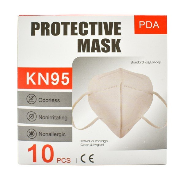 KN95 Respirator Mask - 10 Pack (NOT FDA Certified, for non-medical use)