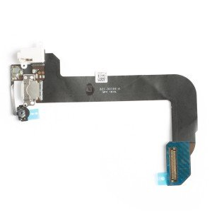 Charging Port Flex Cable (Charging Port & Audio Jack & Home Button Flex & Mic) for iPod Touch 6th Gen - White