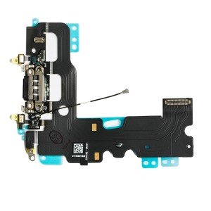"Charging Port Flex Cable for iPhone 7 (4.7"") - Black"