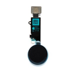"Home Button Flex Cable (w/ Fingerprint Scanner) for iPhone 8 (4.7"") - Space Gray (Cosmetic replacement - button will not function after repair)"