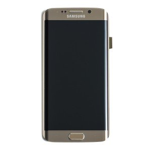 LCD & Digitizer Frame Assembly for Samsung Galaxy S6 Edge (G925V / G925P) (PrimeParts - OEM) - Gold