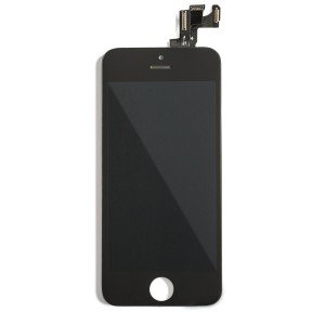 LCD & Digitizer Frame Assembly (w/ Front Cam & Prox. Sensor & Ear Speaker) for iPhone SE (MDSelect) - Black
