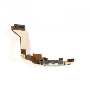 Charging Port Flex Cable for iPhone 4 GSM - White