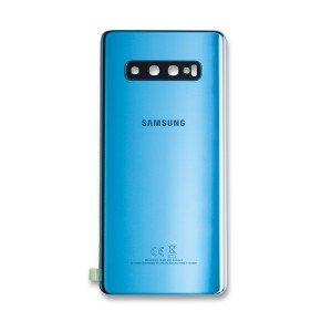 Back Glass with Adhesive for Galaxy S10+ (OEM - Service Pack) - Prism Blue