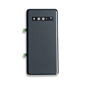 Back Glass with Adhesive for Galaxy S10 5G (OEM - Service Pack) - Majestic Black