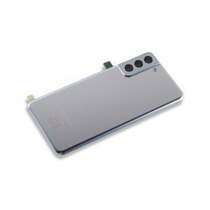 Back Glass with Adhesive for Galaxy S21+ 5G (OEM - Service Pack) - Phantom Silver