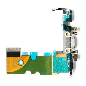 "Charging Port Headphone Jack Flex Cable for iPhone 8 (4.7"") - Silver"