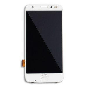 OLED Assembly with Fingerprint Scanner for Moto Z2 Force (XT1789) (Authorized OEM) - White