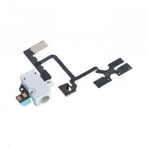 Headphone Jack Flex Cable for iPhone 4 GSM - White