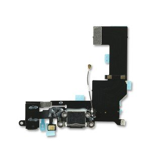 Charging Port Flex Cable for iPhone 5S (SELECT) - Black