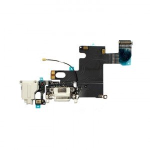 "Charging Port & Headphone Jack Flex Cable for iPhone 6 (4.7"") - White"